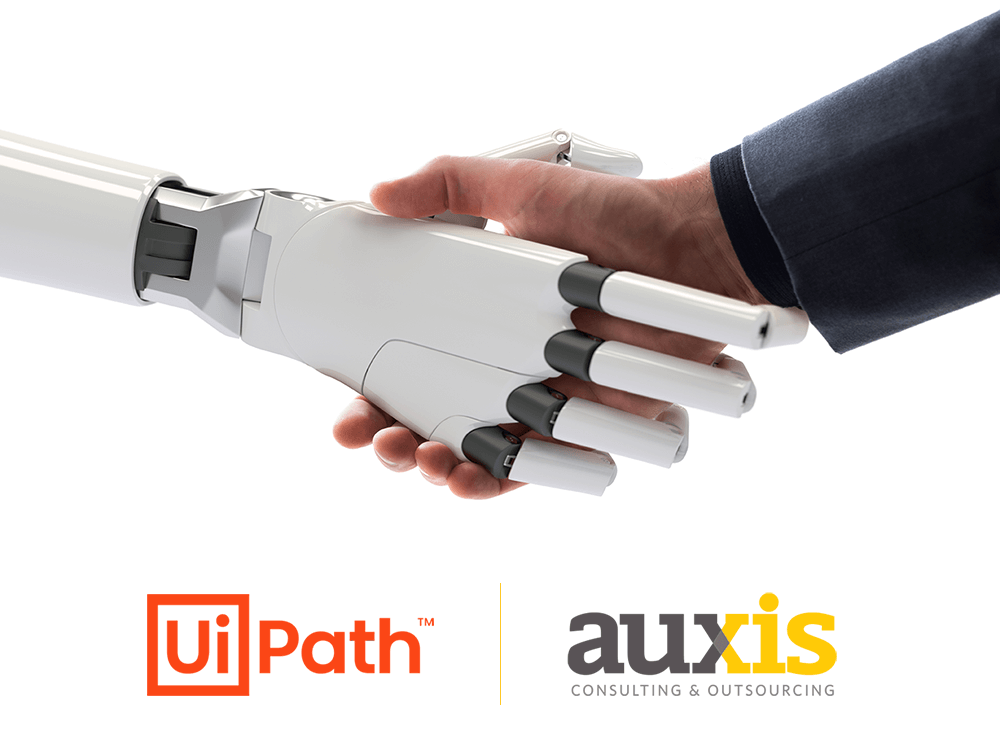 Implementation partnership between UiPath and Auxis