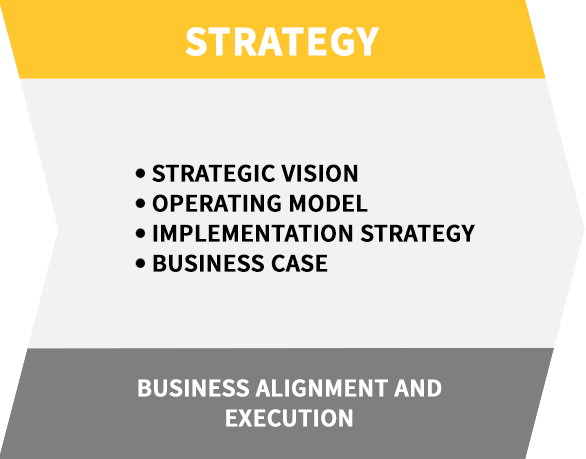 Strategy banner for Auxis Shared Services Solutions: Business Alignment and Execution