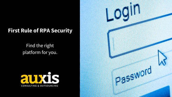 Overcoming information security common RPA objection