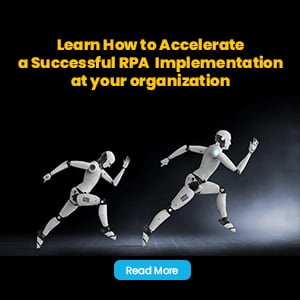 Invitation to read the article: How to accelerate a successful RPA implementation at your organization