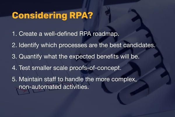 Considering RPA