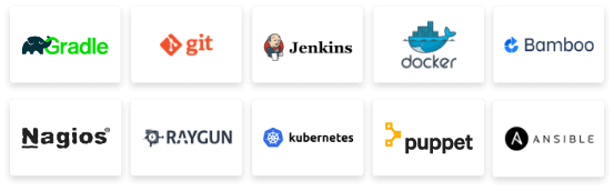 Different DevOps Platform logos