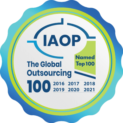 Auxis has been named Top 100 Global Outsourcing Provider in 2016, 2017, 2018, 2019, 2020, & 2021
