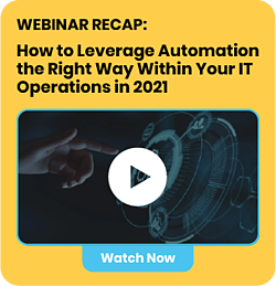 Invitation to watch Auxis' webinar recap: How To Leverage Automation The Right Way Within Your IT Operations in 2021