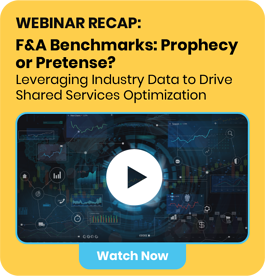 Invitation to watch Auxis' webinar recap: F&A Benchmarks: Prophecy or Pretense? Leveraging industry Data to Drive Shared Services Optimization.