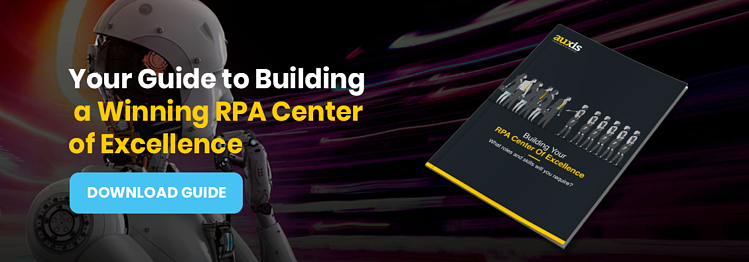 Invitation to download Auxis' guide: Building a Winning RPA Center of Excellence