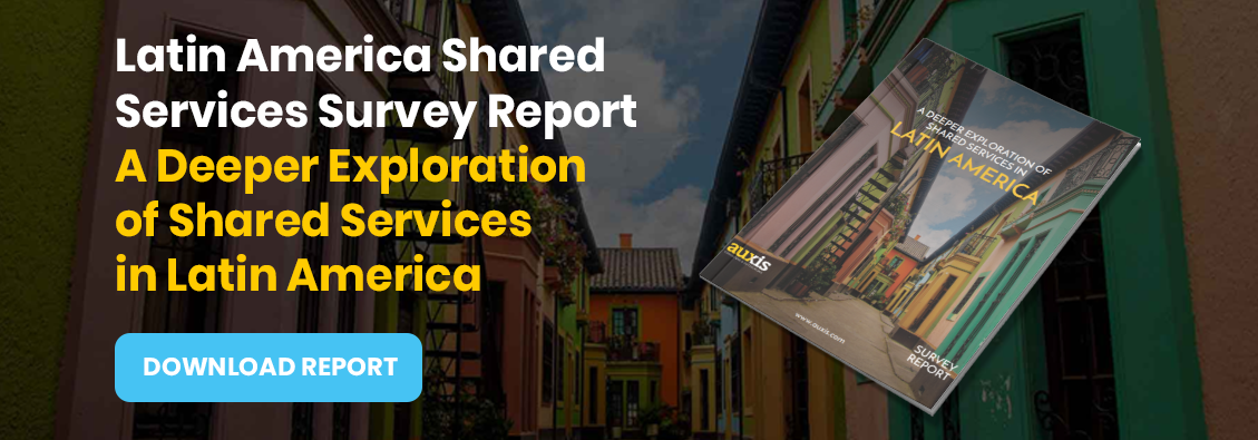Invitation to download Auxis' report: Shared Services in Latin America Trends report.