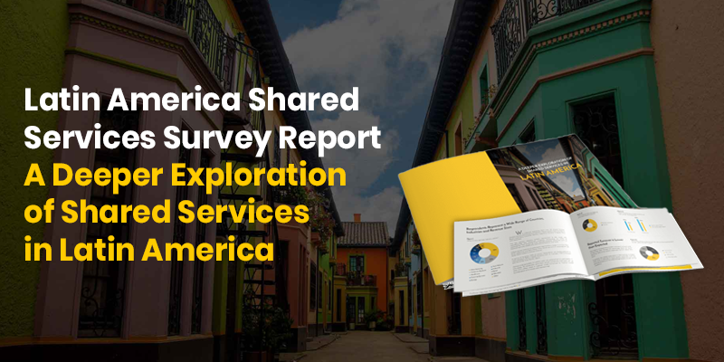 Preview of Shared Services Latin America Trends report with Costa Rica old houses in the background.