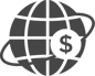 A globe with a dollar sign in orbit: Cost-effective delivery model offering a combination of U.S. and Nearshore resources