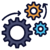 Three gears in motion icon: Promoting the automation and RPA mindset in banks