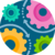 Four gears icon: Modernized Operations by improving productivity and efficiency for the client with automation in compliance processes.