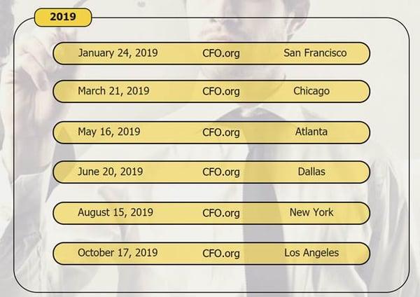 2019 CFO events