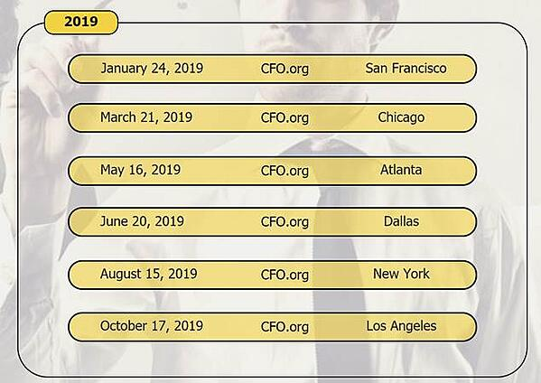 2019 CFO events