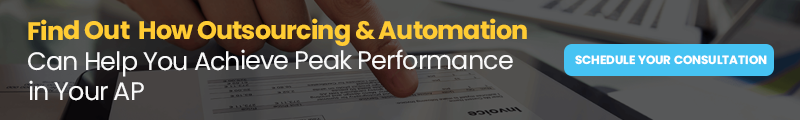 Schedule a Consultation banner: Find Out How Outsourcing & Automation Can Help You Achieve Peak Performance in Your AP