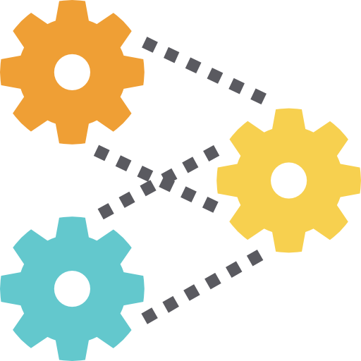 Three gears icon: Repeatable processes for managing IT operations at scale.