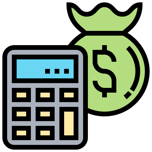 Budget calculation icon: 30-40% reduction in labor costs after build scalability in DevOps.