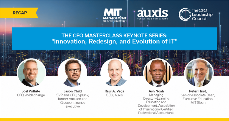 "Speakers presentation for The CFO Masterclass Keynote Series: ""Innovation, redesign, and evolution of IT"""
