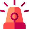 Siren alarm icon: Automation of CI/CD (Continuous Integration/Continuous Delivery).