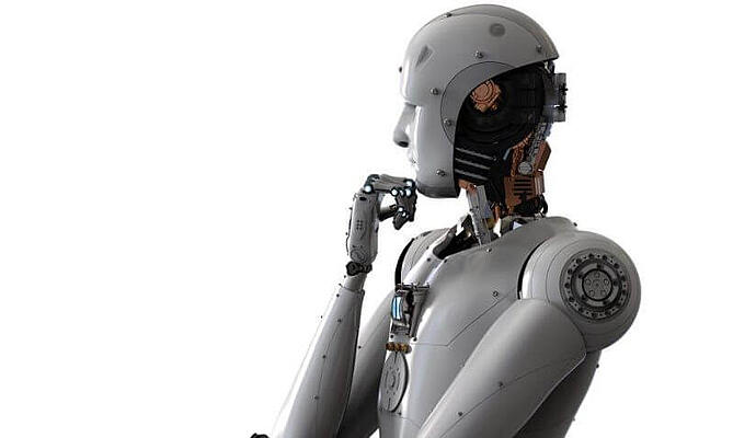 Robot thinking about how to do RPA right