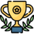 Trophy icon: Swift, successful separation of IT infrastructure in 9 months – despite COVID and other complications.