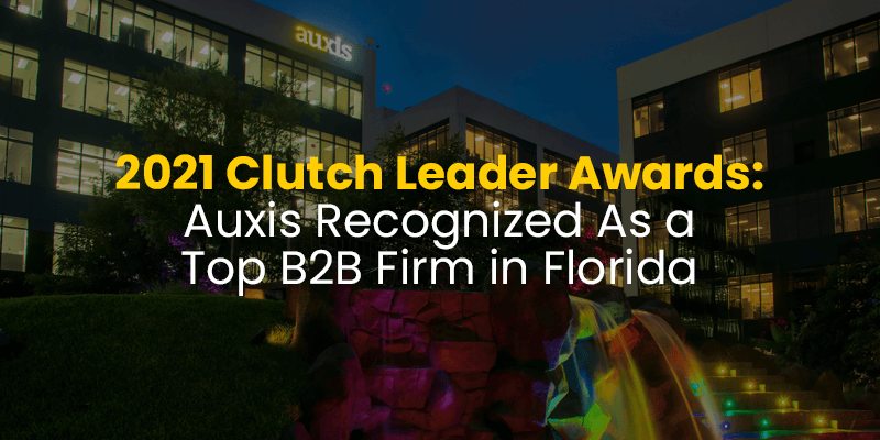 Clutch Recognized Auxis As A Top B2B Company in Florida